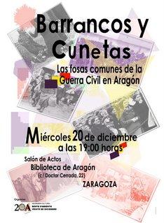 BARRANCOS Y CUNETAS. LAS FOSAS COMUNES DE LA GUERRA EN ARAGON