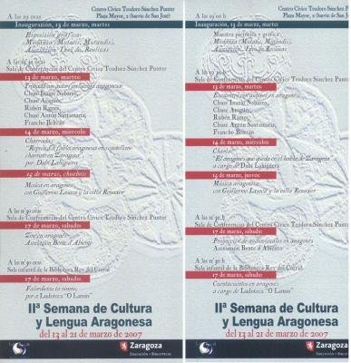 II SEMANA DE CULTURA Y LENGUA ARAGONESA