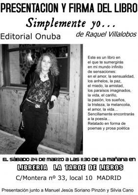 RAQUEL VILLALOBOS PRESENTA SU PRIMER LIBRO - SIMPLEMENTE YO - MAÑANA EN MADRID