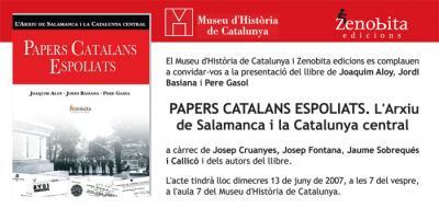 PAPELES CATALANES EXPOLIADOS