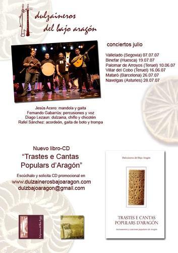 DULZAINEROS DEL BAJO ARAGON EN EL FESTIVAL FOLK CUARTU DE LOS VALLES