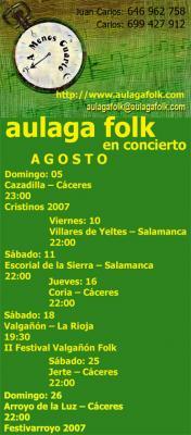AULAGA FOLK EN VILLARES DE YELTES -SALAMANCA-