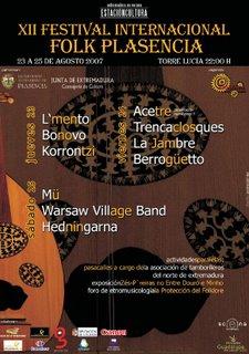 XII FESTIVAL FOLK PLASENCIA 2007