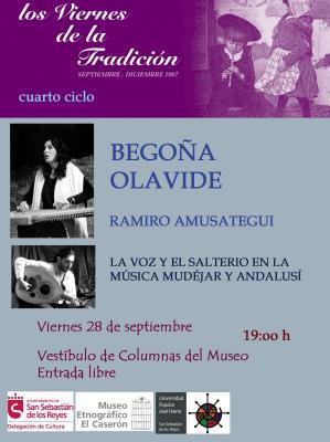 """BEGOÑA OLAVIDE EN """"LOS VIERNES DE LA TRADICION"""""""