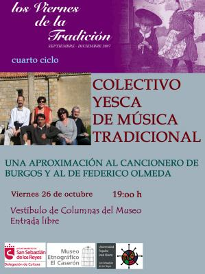 """EL COLECTIVO YESCA EN """"LOS VIERNES DE LA TRADICION"""""""