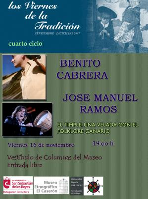 BENITO CABRERA Y JOSE MANUEL RAMOS EN CONCIERTO