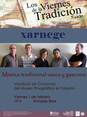 XARNEGE EN CONCIERTO VIERNES 1 FEBRERO