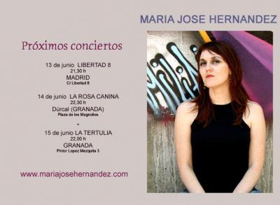 MARIA JOSE HERNANDEZ EN CONCIERTO -JUNIO 2008 -