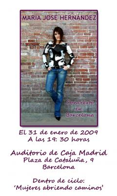 MARIA JOSE HERNANDEZ EN BARCELONA