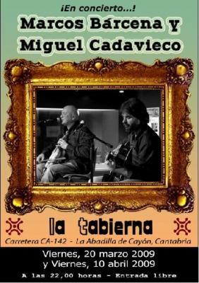 MARCOS BARCENA Y MIGUEL CADAVIECO EN CONCIERTO