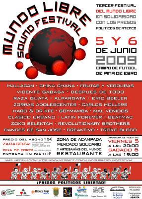 TERCER FESTIVAL DEL MUNDO LIBRE SOUND FESTIVAL