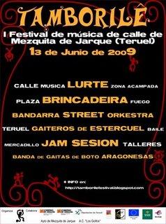 I FESTIVAL DE MUSICA DE CALLE DE MEZQUITA DE JARQUE -TERUEL-