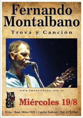 FERNANDO MONTALBANO - TROVA Y CANCIÓN -